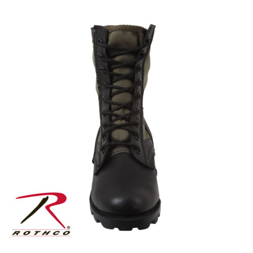 """Kids BLACK  Military Style Tactical Leather Jungle Boots-8/"""" Premium Quality FOX"""