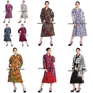 Indian-Cotton-Kimono-Dressing-Gown-Bath-Robe-Mandala-Print-Intimates-Nightwear