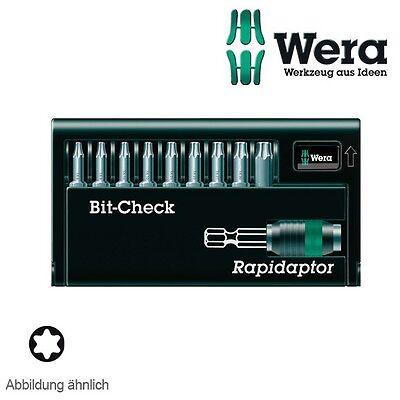 Wera Bitsatz Bit-Check 8667-9/Z TORX® 10-teilig mit Rapidaptor