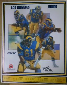 1981-Los-Angeles-Rams-Game-Schedule-Poster
