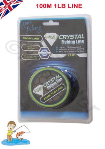 Ligne de pêche 100M//1LB ligne claire fiable poids léger pour la pêche//D.I.Y travail