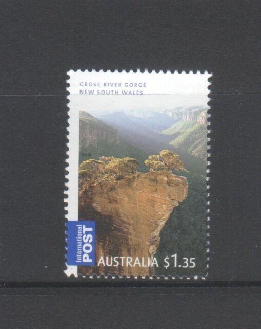 AUSTRALIA 2008 GORGEOUS AUSTRALIA $1.35 GROSE RIVER GORGE NSW 1 STAMP IN MINT