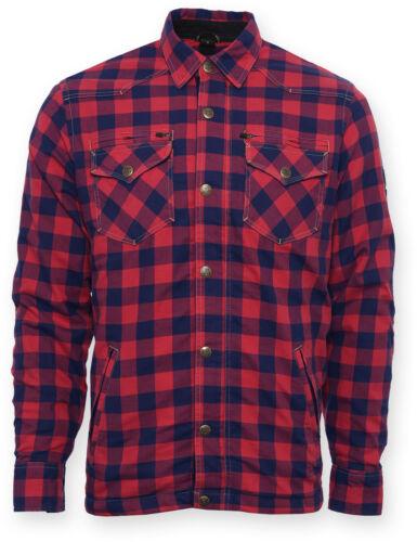 Bores aramida camisa LUMBERJACK Camisa negro rojo incl protekoren d3o