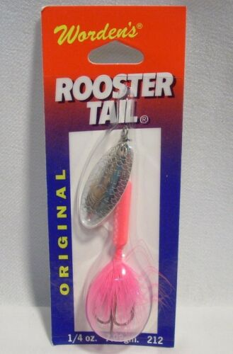 Wordens 1//4 oz Pink Original Rooster Tail Fishing Lure Crainkbait