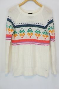 8eb9f6b27a90c Image is loading AMERICAN-EAGLE-OUTFITTERS-Fair-Isle-Jegging -Snowflake-Ivory-