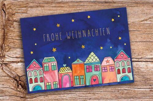 Weihnachtskarten Set Frohe Weihnachten Merry Christmas zur Auswahl