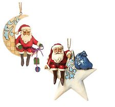 Heartwood Creek Santa Claus Hanging Ornament Set by Jim Shore  25634
