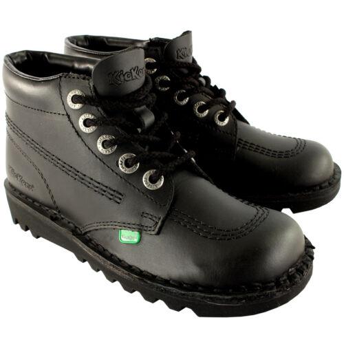 Unisex Kids Junior Kickers Kick Hi Back To School Leather Boot Shoes US 13-3.5