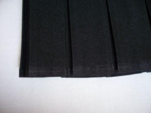 SCHOOL UNIFORM SKIRT BOX PLEAT FULL ELASTICATED WAIST GREY//BLACK//NAVY//GREEN 2-17