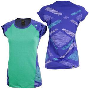 ADIDAS LAUFEN PRIMEKNIT T Shirt Damen Lila Fitness Top T Shirt Sportbekleidung