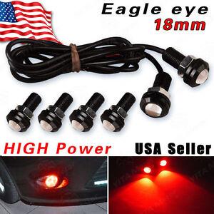 Image Is Loading 6PCS 18mm Red Eagle Eye LED Ca DRL
