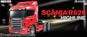 TAMIYA-56323-Scania-R620-Radio-Controle-Auto-Assemblage-truck-camion-Kit-1-14-RC