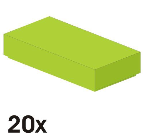 409 20 Stück NEUE 1x2 Fliesen in hellgrün Art. 3069b lime
