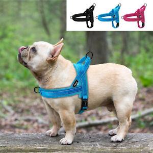 No-Pull-Front-Clip-Dog-Harness-Adjustable-Reflective-Plush-Padded-Pet-Vest-S-M-L