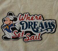 Disney Cruise - Where Dreams Set Sail - Die Cut Title Scrapbook Paper Piece
