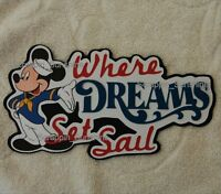 Disney Cruise - Where Dreams Set Sail - Die Cut Title Scrapbook Paper Piece