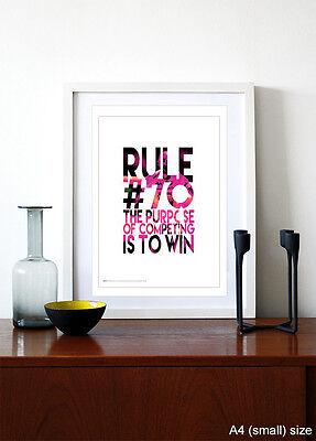 Importato Dall'Estero Competere A Vincere ❤ ❤ Ciclismo Bici Poster Art Print 5 Tg #48 Rapha Sky Pantani-