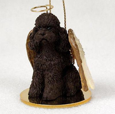 Poodle Dog Figurine Angel Statue Chocolate Sportcut