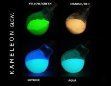 100G Multi colour X 4 glow in the dark Pigment Powder for Arts, Paint, Soap Etc