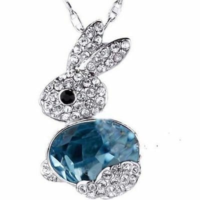 New jewelry Fashion Rabbit Crystal Pendant long Pendant sweater Chain Necklace