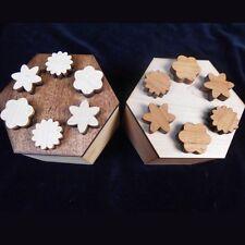 Hexagon Secret Lock Puzzle Box - handcrafted beautiful design made USA
