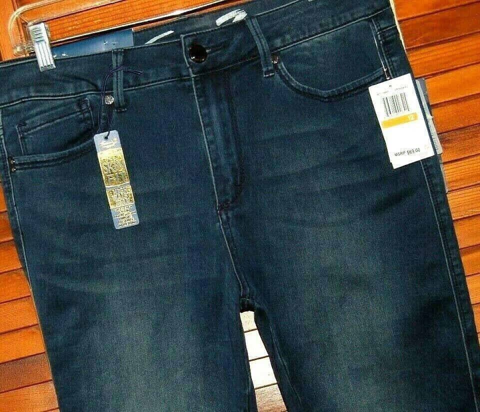 NWT Seven 7 Jeans SIZE 12 WOMEN'S High Rise Skinny LUXURY SKIN FIT Stretch Denim