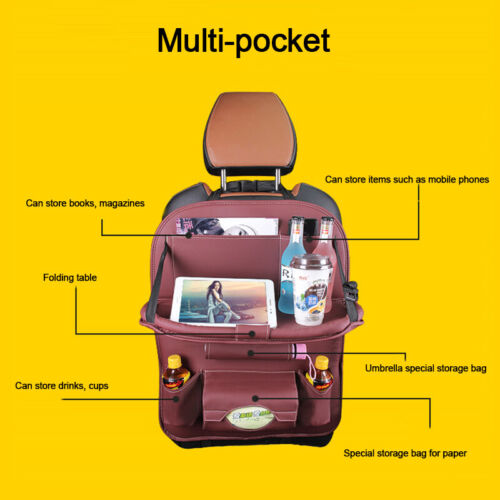 Multi-function car seat back  Organizer Foldable Table Tray Travel Storage Bag