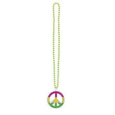 Pride Rainbow Bling Peace Necklace Festival Parade Party Fancy Dress Accessories