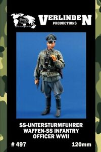 Verlinden-120mm-SS-untersturmfuhrer-Waffen-Resin-Figure-Model-Kit-497