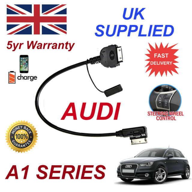 For Audi A1 4F0051510K iPhone 3gs 4 4s & most iPods AMI MMI Audio Cable 2009+