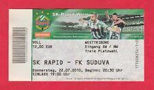 Orig.Ticket   Europa League  2010/11  SK RAPID WIEN - SÜDUVA MARIJAMPOLE  !!