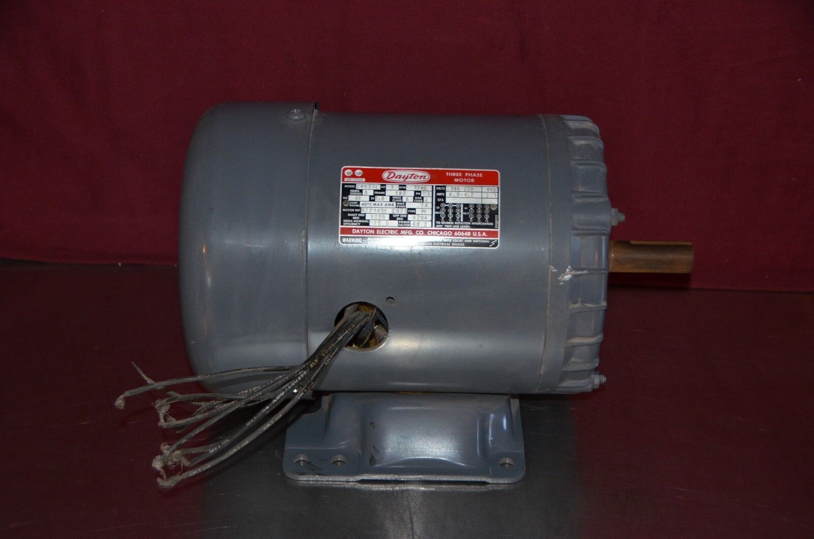 Dayton 2n933l 1 Hp 1740 Rpm 208 220 440v 3 Phase 60hz 182 Frame Motor Wiring Norton Secured Powered By Verisign