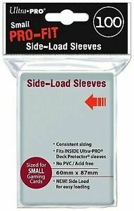 72be1919bc12 100 Ultra Pro Clear Pro-fit Side-load Inner Card Sleeves Small Sized 60 X  87 Mm