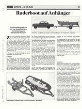 WIKING CHRONIK RUDERBOOT auf ANHÄNGER , von 1992