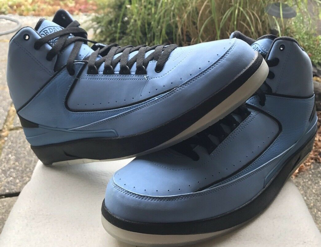 new arrivals cebb2 88dd1 Nike Air Jordan II 2 2 2 retro QF Universidad Azul   negro blanco  10