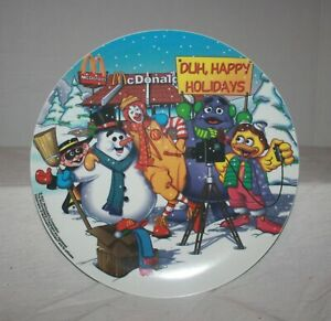 2001-McDonald-039-s-Christmas-Theme-034-Duh-Happy-Holidays-034-Collectible-Plastic-Plate