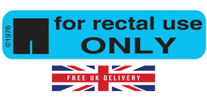 For-Rectal-Use-Only-Vaginal-Use-Only-Sticker-Packs-25-100-Fast-dispatch