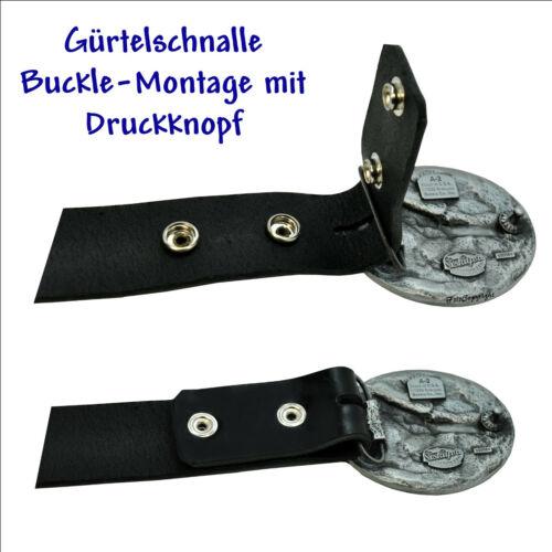 Lucky Seven 7 Hufeisen Glücksspieler Gürtelschnalle Rockabilly Belt Buckle *125