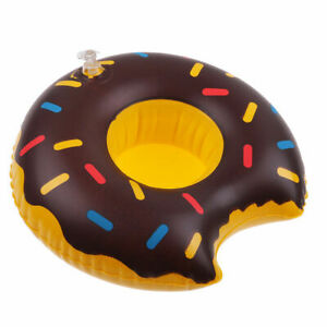 Chocolate-Donut-Inflable-Bebida-Taza-Soporte-Hot-Banera-Piscina-Playa-Fiesta