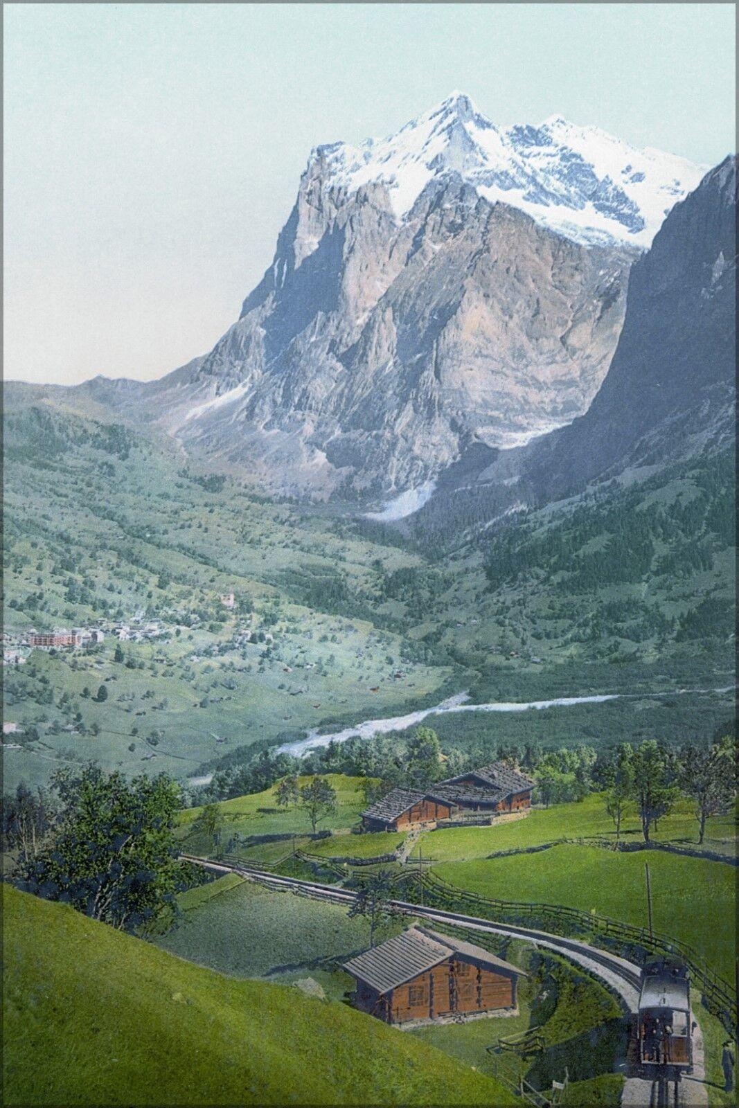 Poster, Many Größes; Grindelwald Um 1900 Switzerland Photochrom