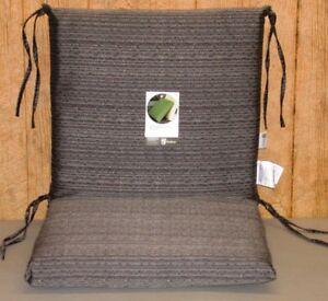 2 Outdoor Patio Chair Cushions Bentley Textured 20 X 35 X NEW