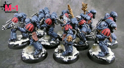 Warhammer 40k Space Wolves Intercessors M1 pro-painted