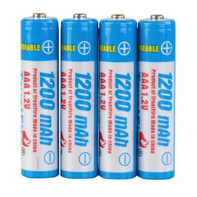 TrustFire 4pzs AAA 1200mAh Bateria Baterias recargables de hidrogeno de niqu 4V5