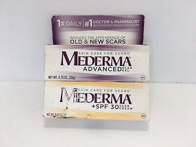 Lot Of 2 Mederma Skin Care For Scars Cream Spf 30 And Scar Gel