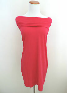 Women-039-s-Express-Hot-Pink-Off-the-Shoulder-Dress-Size-Small