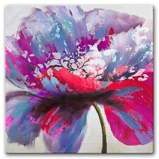 Blumen Set Bilder 3x Bilder Blume Gemälde Drock Foto Neu  G93866