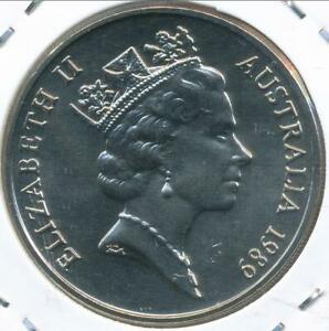 Australia-1989-Twenty-Cents-20c-Elizabeth-II-Gem-Uncirculated