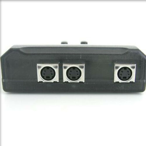 2 Port SVHS S-Video Manual SELECTOR Sharing Switch NEW BOX PC TV 2:1  Switcher