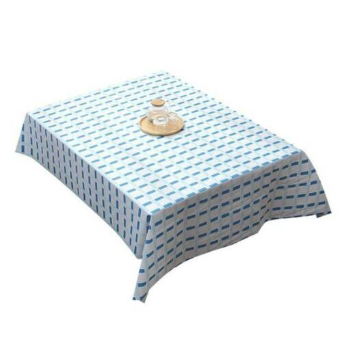 Plain Wipe Clean PVC Vinyl Tablecloth Table Cover Protector Dining Kitchen CB