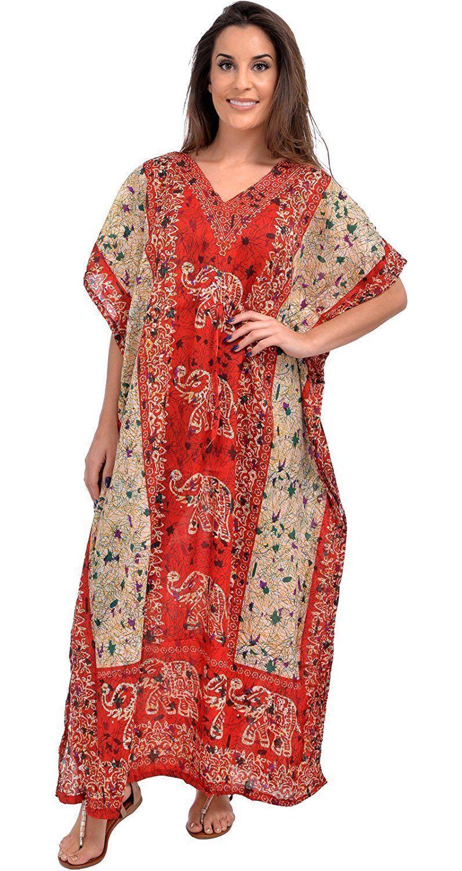 Új hosszú kaftani öltözet Hippy Boho Maxi, egy méretben plus női Caftan felsőruha